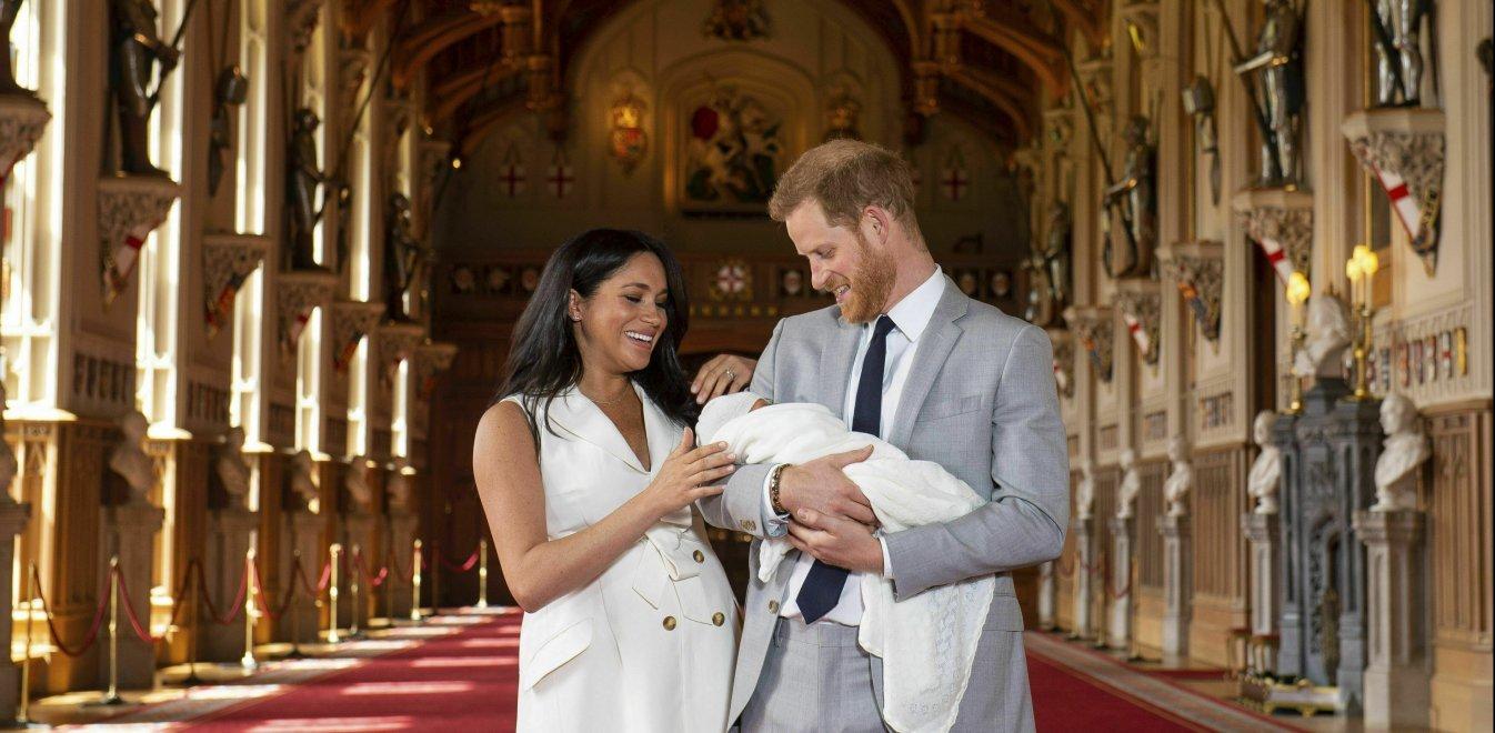 Image result for Χάρι και η Μέγκαν με το μωρο
