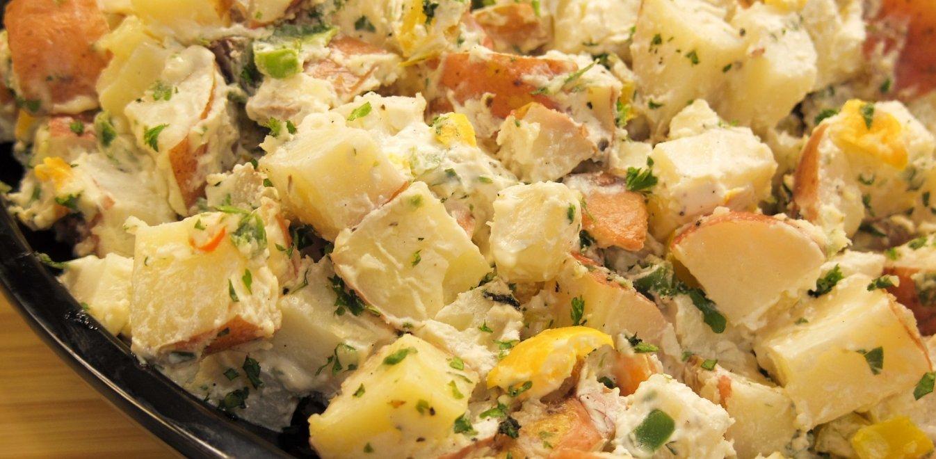 Συνταγή για πατατοσαλάτα με αβγά