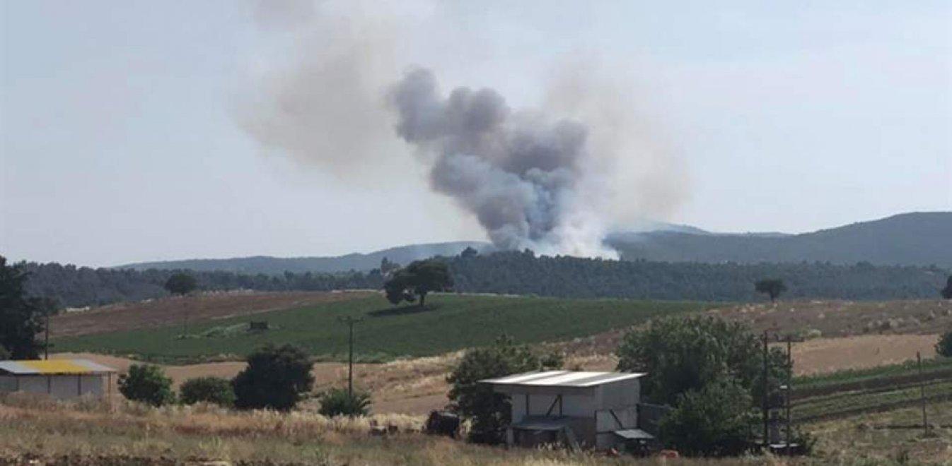 Μεγάλη πυρκαγιά στα Μανίκια Ευβοίας