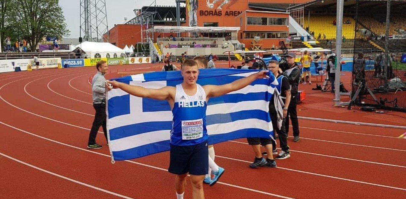 Ασημένιος με πανελλήνιο ρεκόρ ο Φραντζεσκάκης στο Ευρωπαϊκό Κ20