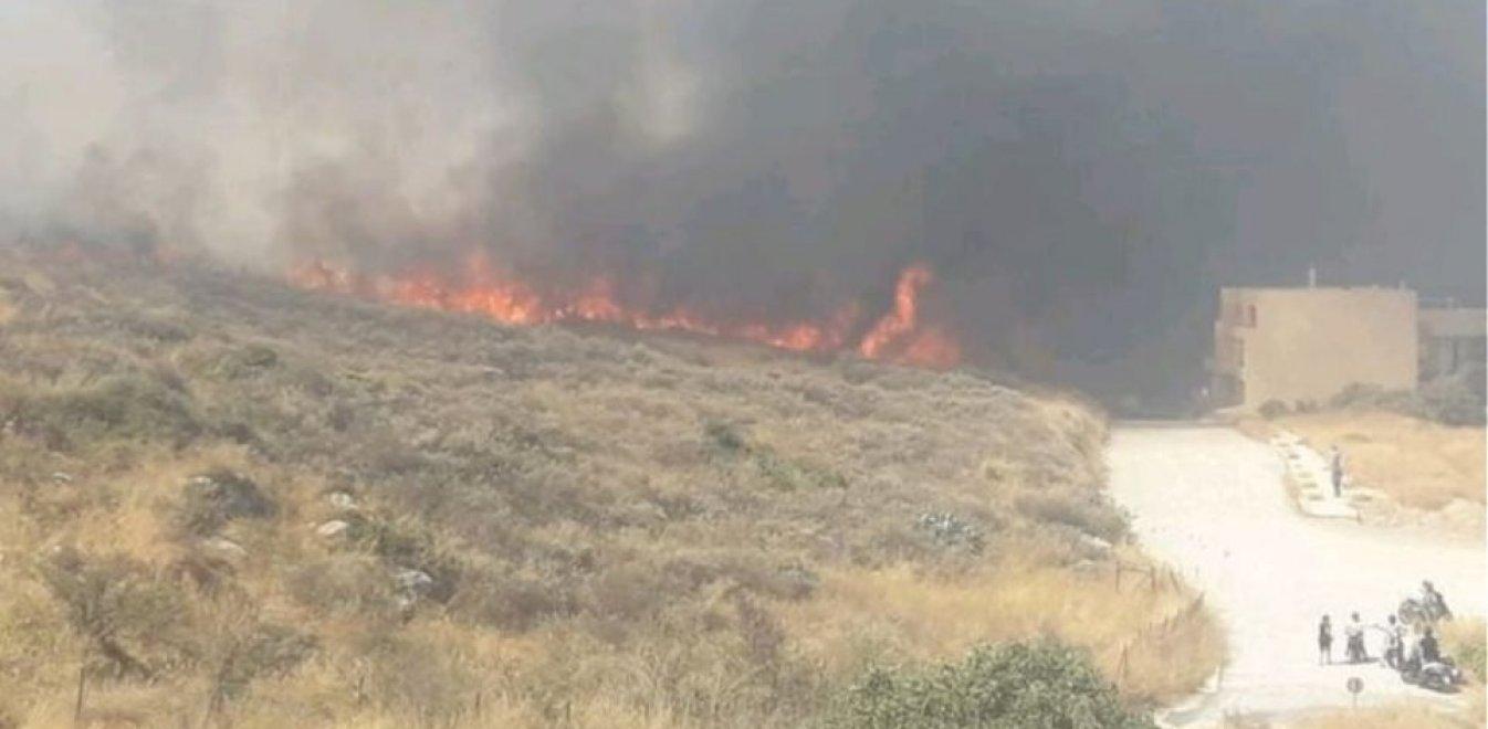 Υπό έλεγχο η φωτιά που ξέσπασε στο Ρέθυμνο