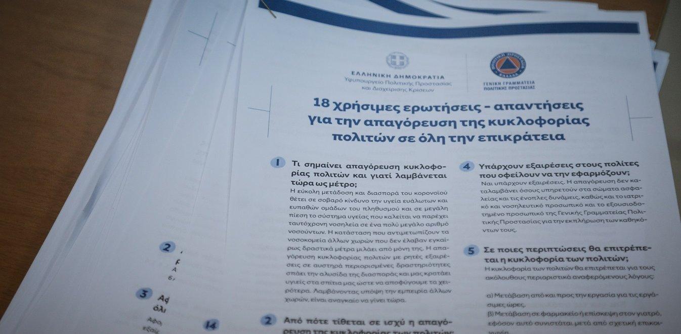 Forma.gov.gr: Άνοιξε η πλατφόρμα για τις μετακινήσεις των πολιτών