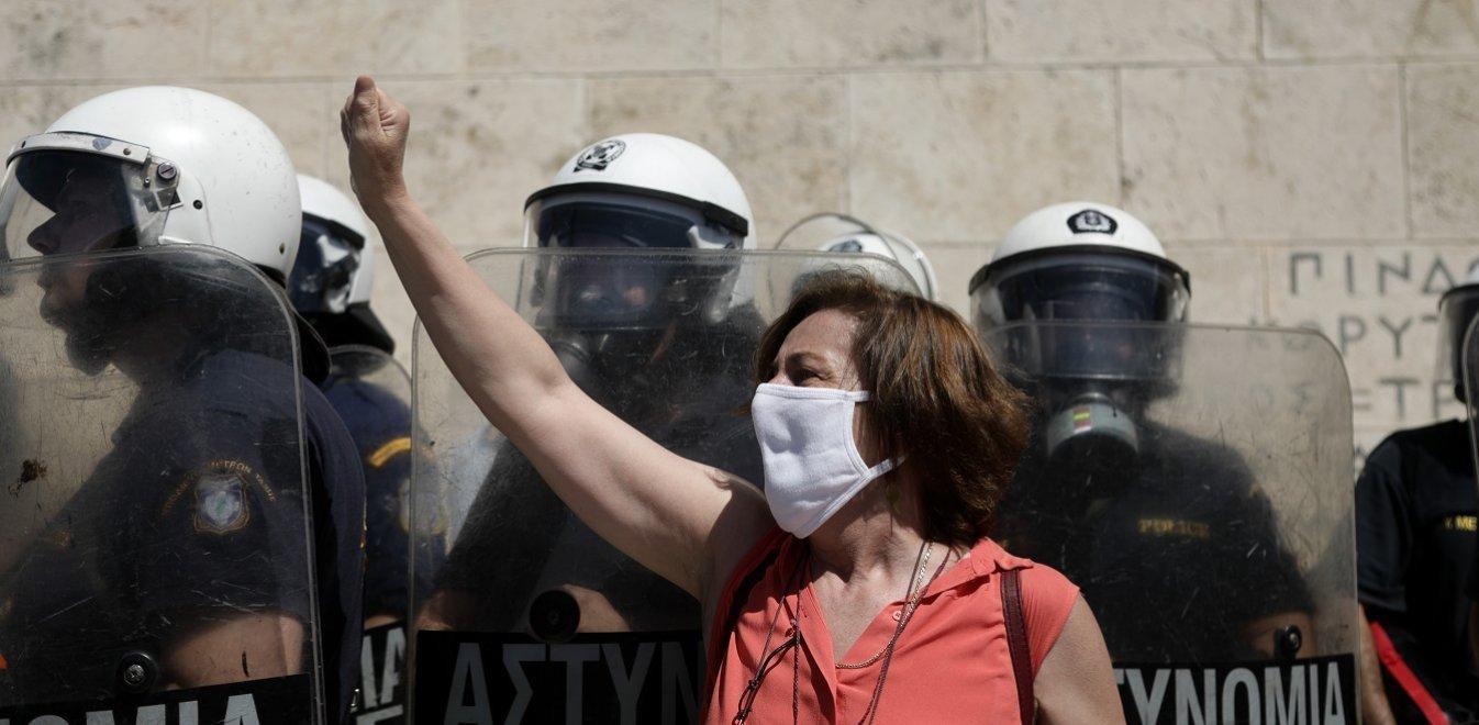 Η Αγωνιστική Κίνηση Γυναικών Κοζάνης (μέλος της ΟΓΕ) καταγγέλλει το νομοσχέδιο  που βάζει στο στόχαστρο τις διαδηλώσεις