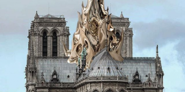 "Screenshot_2019-05-03 Mathieu Lehanneur on Instagram ""Some say that we should rebuild the spire as it was originally Others[...].png"