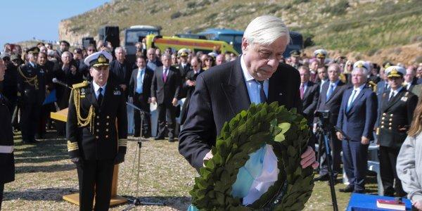 Αποτέλεσμα εικόνας για επιμνημόσυνη δέηση, στη μνήμη των 4.100 αιχμαλώτων Ιταλών στρατιωτών θυμάτων του ναυαγίου του «ΟRIA