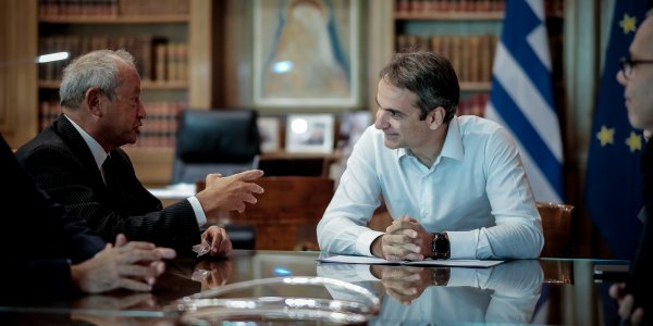 Mitsotakis meets with head of Orascom Investment Holding Group Naguib Sawiris