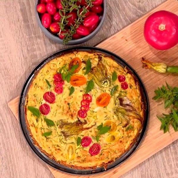 Συνταγή για πίτα μπατζίνα με λαχανικά του μπαξέ