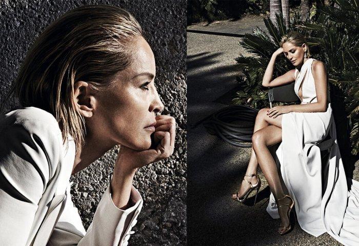 Σάρον Στόουν: Στα 61 της ποζάρει στη Vogue αλά «Βασικό Ένστικτο» (pics)