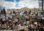 School student march for climate crisis held in Athens