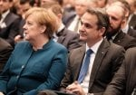 PM Mitsotakis and Chancellor Merkel talk ahead of EU summit
