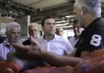 SYRIZA leader Tsipras tours the island of Naxos