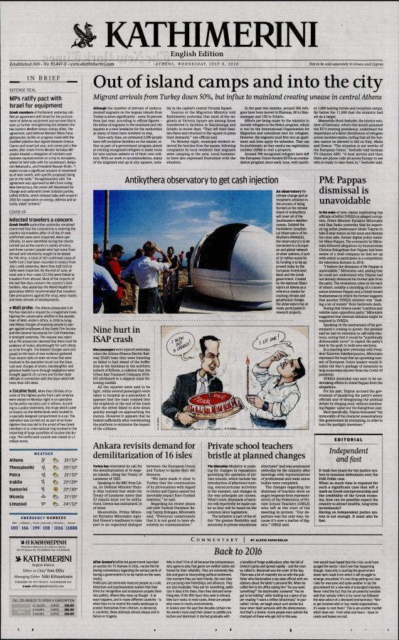 International New York Times Kathimerini - 08/07/2020