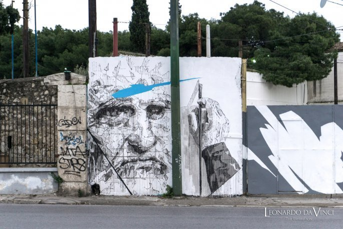 Λεονάρντο Ντα Βίντσι, τοιχογραφία Πειραιώς