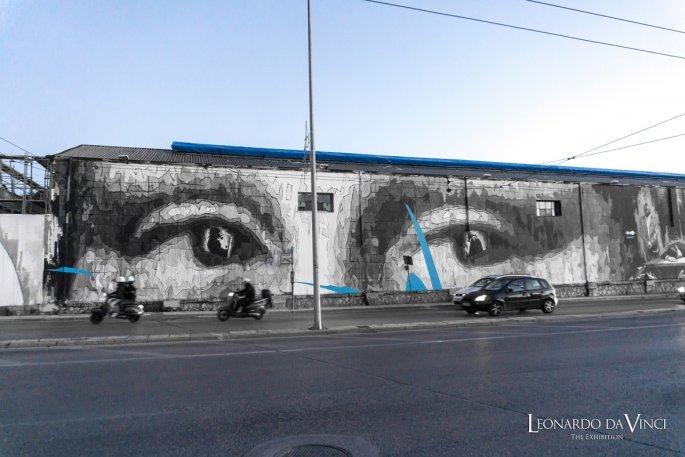 Λεονάρντο Ντα Βίντσι, τοιχογραφία Πειραιώς, INO