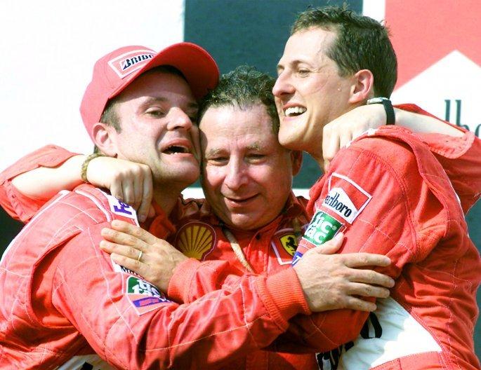 Michael Schumacher και Jean Todt (copyright: AP photo)