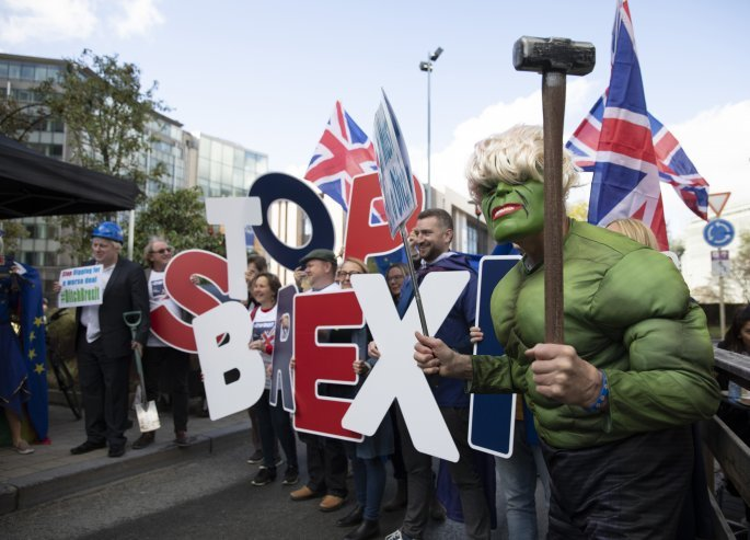 Διαδηλώσεις στις Βρυξέλλες για το Brexit