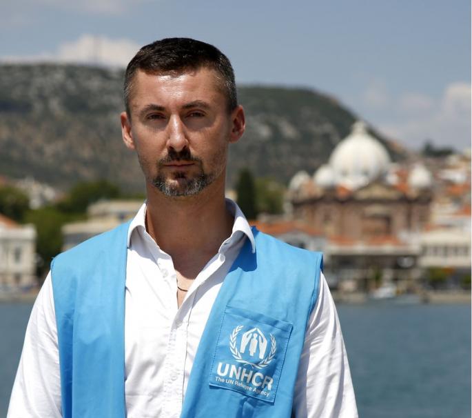 Boris Cheshirkov, εκπρόσωπος Τύπου, Ύπατη Αρμοστεία του ΟΗΕ για τους Πρόσφυγες στην Ελλάδα