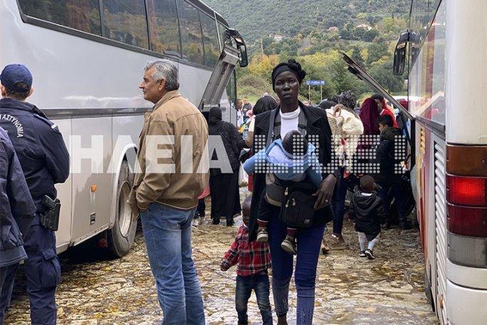 πρόσφυγες, Ηλεία