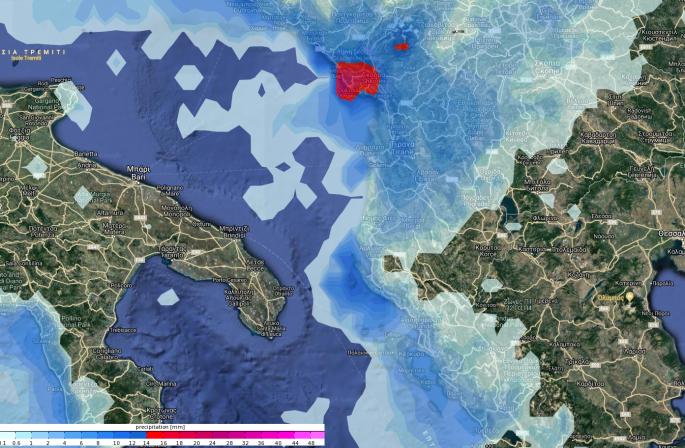 Χάρτης καιρού για την Αλβανία