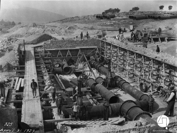 Κατασκευή υδαταποθήκης στο Γαλάτσι, 1929