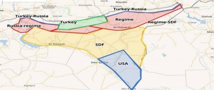 Οι ζώνες της Συρίας όπως αποτυπώνονται μετά την τουρκική εισβολή