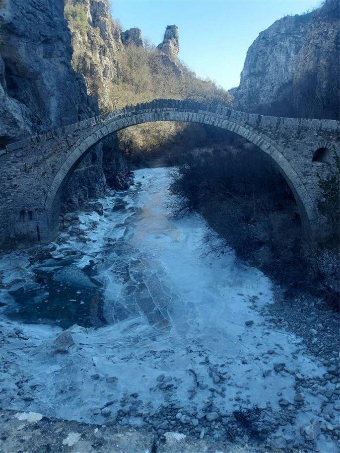 πέτρινο γεφύρι του Κόκκορη στο Ζαγόρι