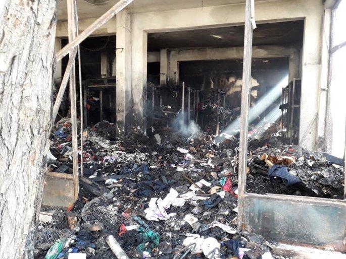 Φωτιά σε αποθήκη στην Χίο