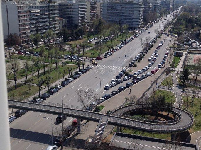 Μειωμένη η κίνηση στους δρόμους