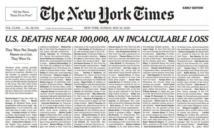 New York Times, κορονοϊός