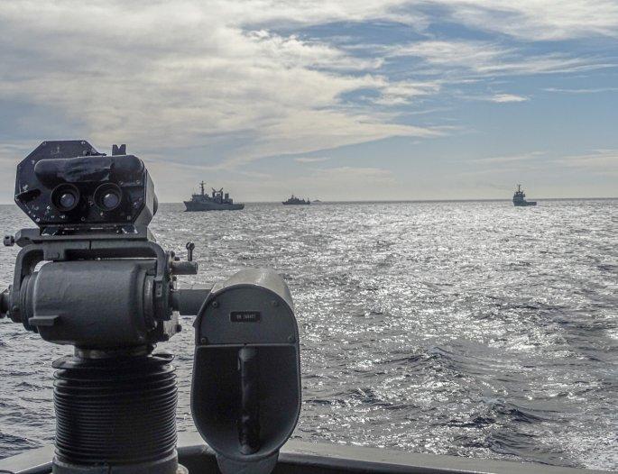 Naval training exercise Aegean