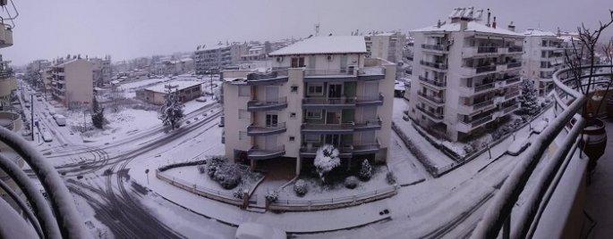 Χιονίζει από το βράδυ του Σαββάτου στις Σέρρες