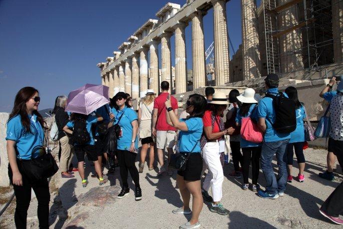 Κινέζοι τουρίστες στην Αθήνα