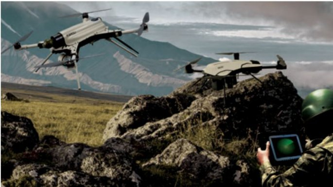 Απεικόνιση από την κατασκευάστρια εταιρεία STM του drone Kargu-2