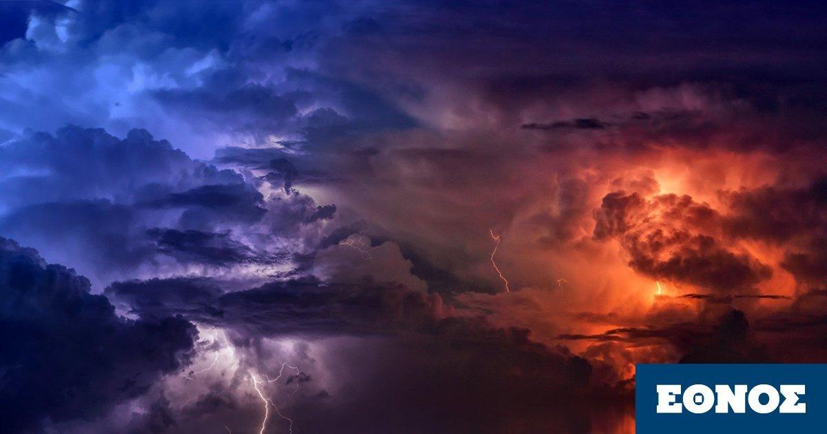Καιρός: Βροχές και καταιγίδες το Σάββατο– Σε ισχύ το έκτακτο δελτίο της ΕΜΥ