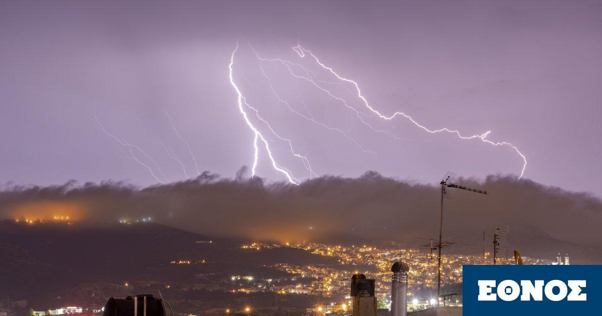 Έκτακτο δελτίο επιδείνωσης καιρού από την ΕΜΥ: Πού θα σημειωθούν ισχυρές βροχές και κεραυνοί